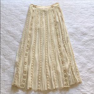Free People Skirts - Free People Boho crocheted lace skirt (runs large)